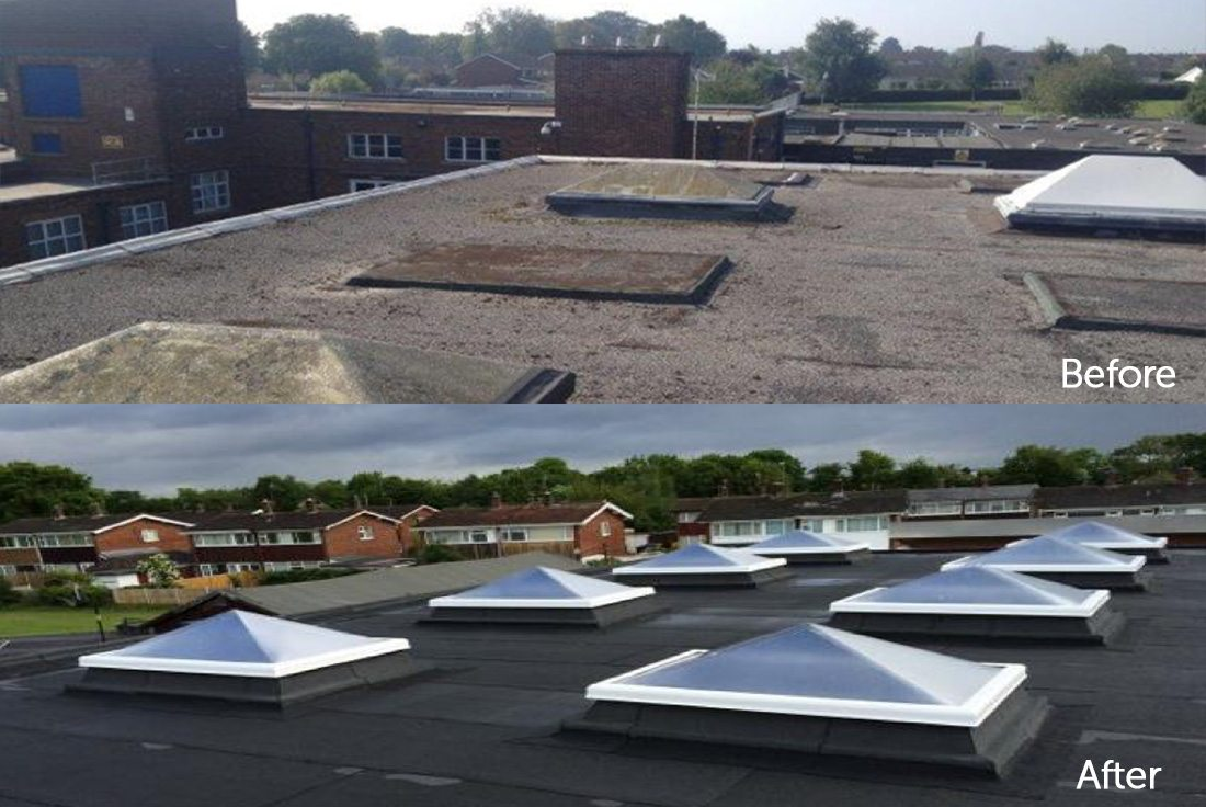 Broughton School roof repair
